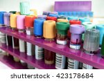 blood samples on rack in the... | Shutterstock . vector #423178684