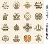 bakery logo  bakery icons set ... | Shutterstock .eps vector #423184408