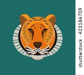 vector tiger portrait.... | Shutterstock .eps vector #423186709