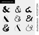 set of decoration ampersands... | Shutterstock .eps vector #423187204