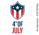 happy usa independence day 4 th ... | Shutterstock .eps vector #423190366
