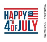 happy usa independence day 4 th ... | Shutterstock .eps vector #423190606