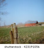 Weathered Fence Post With...