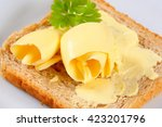 slice of toast bread with... | Shutterstock . vector #423201796