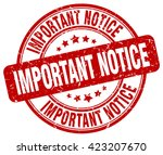 Important Notice Red Grunge...