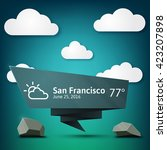 weather banner in modern style...
