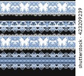 seamless lace lacy ribbon washi ... | Shutterstock . vector #423209239