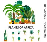 Flat Nature Of Africa Vector...
