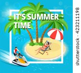 it's summer time banner. summer ... | Shutterstock .eps vector #423211198