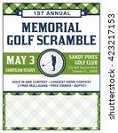 a template for a golf... | Shutterstock .eps vector #423217153