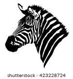 zebra head on white background | Shutterstock .eps vector #423228724