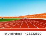 track stadium vector image | Shutterstock .eps vector #423232810