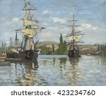 Ships Riding On The Seine At...