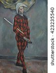 Harlequin  By Paul Cezanne ...