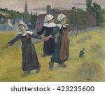 Breton Girls Dancing  Pont Ave...