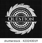 question with chalkboard texture | Shutterstock .eps vector #423243019