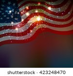 fireworks background for 4th of ... | Shutterstock .eps vector #423248470