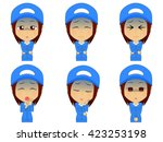 work clothes woman set | Shutterstock .eps vector #423253198