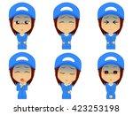 work clothes woman set | Shutterstock .eps vector #423253198