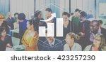 bar chart analysis statistic... | Shutterstock . vector #423257230