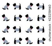 scottish terrier in a sailor t... | Shutterstock .eps vector #423258460