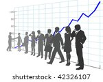 a team of business people in... | Shutterstock .eps vector #42326107