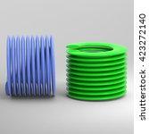 coil springs. 3d illustration.... | Shutterstock . vector #423272140