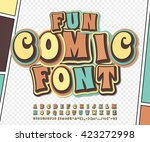 cool colorful high detail comic ... | Shutterstock .eps vector #423272998