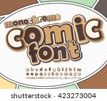 monochrome chocolate high... | Shutterstock .eps vector #423273004