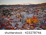 guanajuato after sunset  mexico.... | Shutterstock . vector #423278746