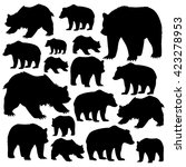 bears are forest dwellers on... | Shutterstock .eps vector #423278953