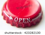 Red Screw Cap Bottle With A...