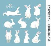 Stock vector rabbit vector illustration 423282628