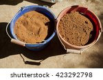 building clay kiln process | Shutterstock . vector #423292798