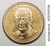 us gold presidential dollar... | Shutterstock . vector #423293536
