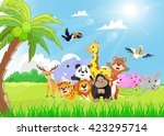 Wild Animals Cartoon In The...