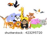 cartoon wild animals | Shutterstock .eps vector #423295720