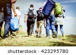the refugees migrate to europe. ... | Shutterstock . vector #423295780