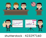 businesspeople presentation... | Shutterstock .eps vector #423297160