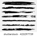 hand drawn brushes.grunge brush ... | Shutterstock .eps vector #423297739