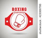 boxing sport design    Shutterstock .eps vector #423300700