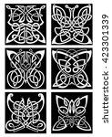 tribal butterflies symbols for...   Shutterstock .eps vector #423301339