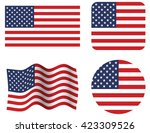 usa flag set. united states... | Shutterstock .eps vector #423309526