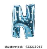 balloon font with stars part... | Shutterstock . vector #423319066