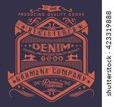 vintage denim typography  t... | Shutterstock .eps vector #423319888