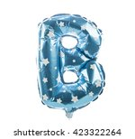 balloon font with stars part of ... | Shutterstock . vector #423322264
