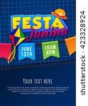 festa junina poster. brazilian... | Shutterstock .eps vector #423328924