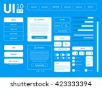 vector ui kit | Shutterstock .eps vector #423333394