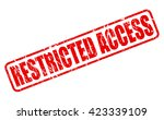 restricted access red stamp... | Shutterstock .eps vector #423339109