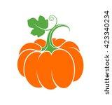 pumpkin. logo. abstract pumpkin ... | Shutterstock .eps vector #423340234